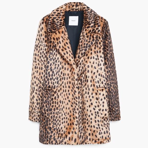 8c238f647d63 Mango Jackets & Coats   Faux Fur Leopard Print Coat   Poshmark